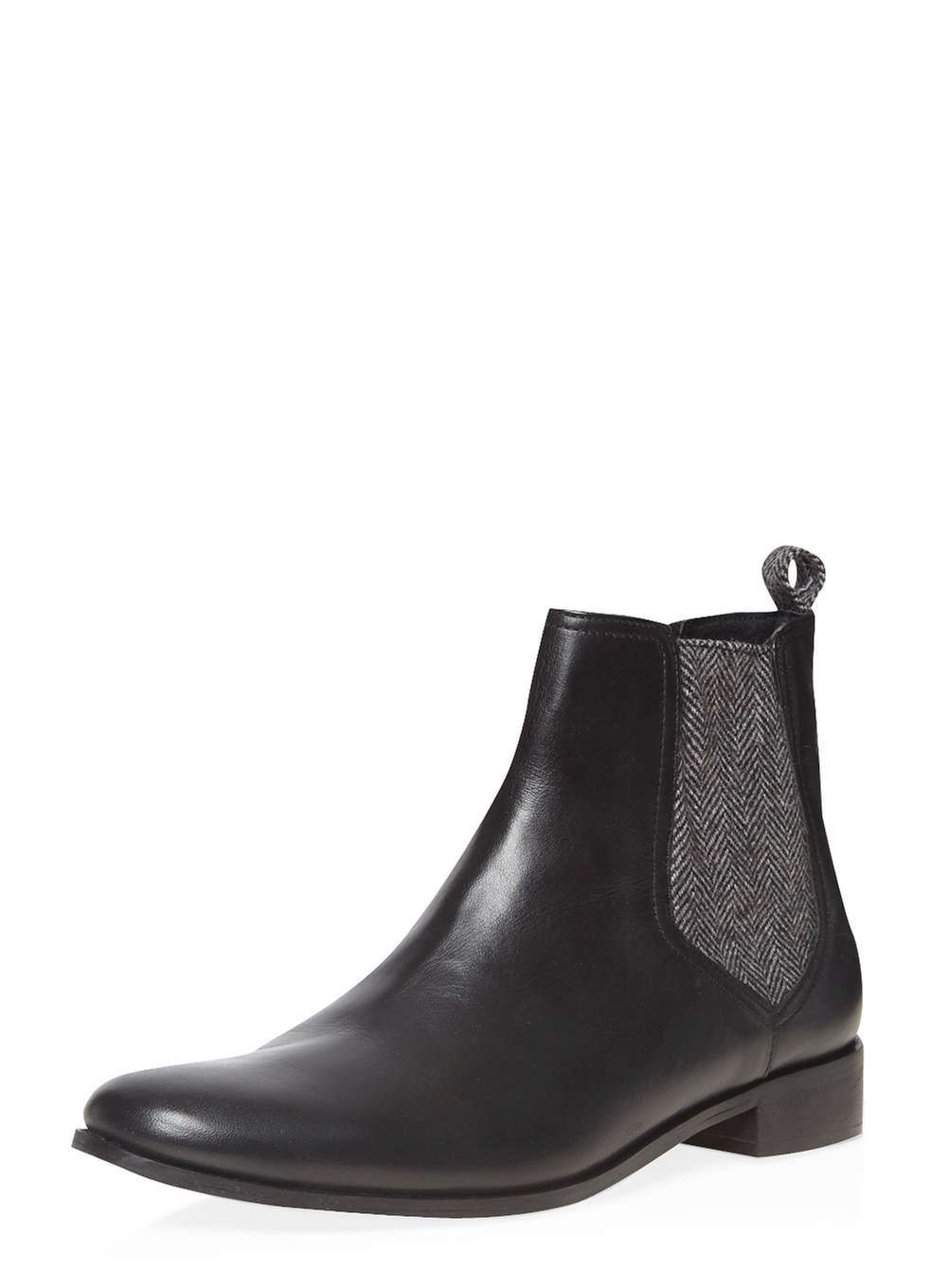Womens **Ravel Black Ankle Boots Black - predominant colour: black; occasions: casual, work, creative work; material: leather; heel height: mid; heel: block; toe: round toe; boot length: ankle boot; style: standard; finish: plain; pattern: plain; season: a/w 2016