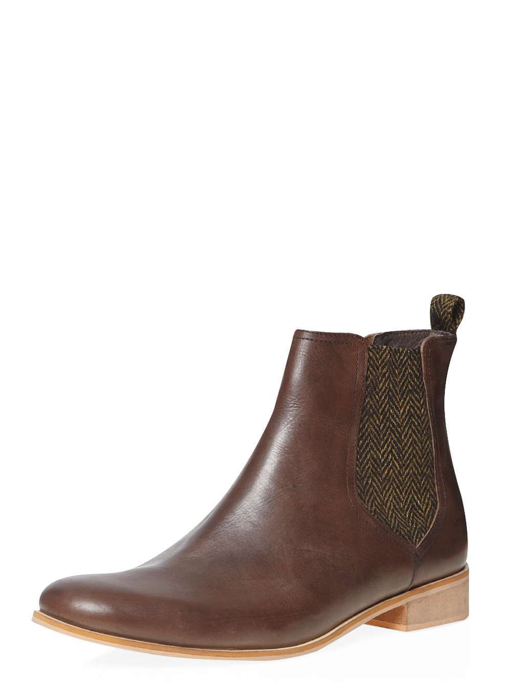 Womens **Ravel Brown Leather Boots Brown - predominant colour: chocolate brown; occasions: casual, work, creative work; material: leather; heel height: mid; heel: block; toe: round toe; boot length: ankle boot; style: standard; finish: plain; pattern: plain; wardrobe: basic; season: a/w 2016