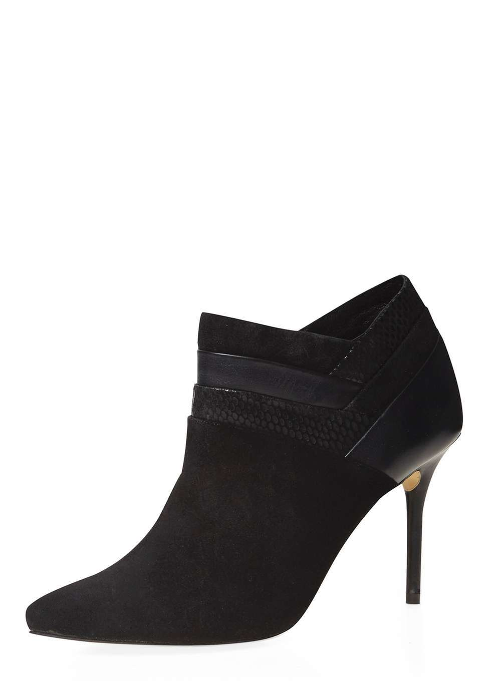 Womens **Ravel Black Ankle Boots Black - predominant colour: black; secondary colour: black; occasions: evening; material: suede; heel height: high; heel: stiletto; toe: pointed toe; boot length: ankle boot; style: standard; finish: plain; pattern: plain; season: a/w 2016; wardrobe: event