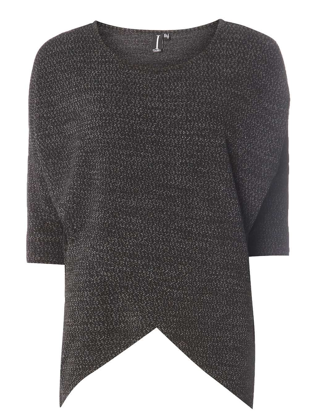 Womens *Izabel London Black Top Black - pattern: plain; predominant colour: black; occasions: casual; length: standard; style: top; fibres: polyester/polyamide - mix; fit: body skimming; neckline: crew; sleeve length: 3/4 length; sleeve style: standard; texture group: knits/crochet; pattern type: fabric; wardrobe: basic; season: a/w 2016
