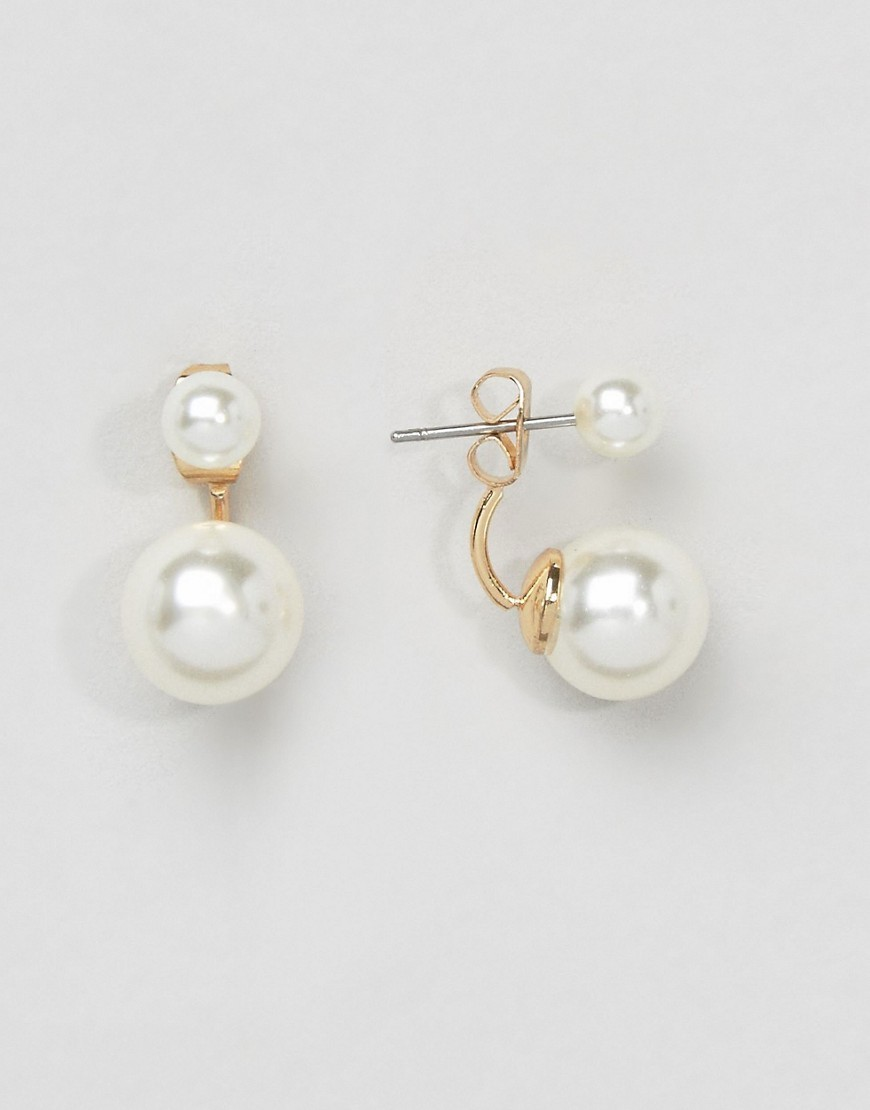 Pearl Swing Earrings Cream - predominant colour: white; occasions: evening, work, occasion; style: drop; length: short; size: small/fine; material: chain/metal; fastening: pierced; finish: plain; embellishment: pearls; season: a/w 2016; wardrobe: highlight