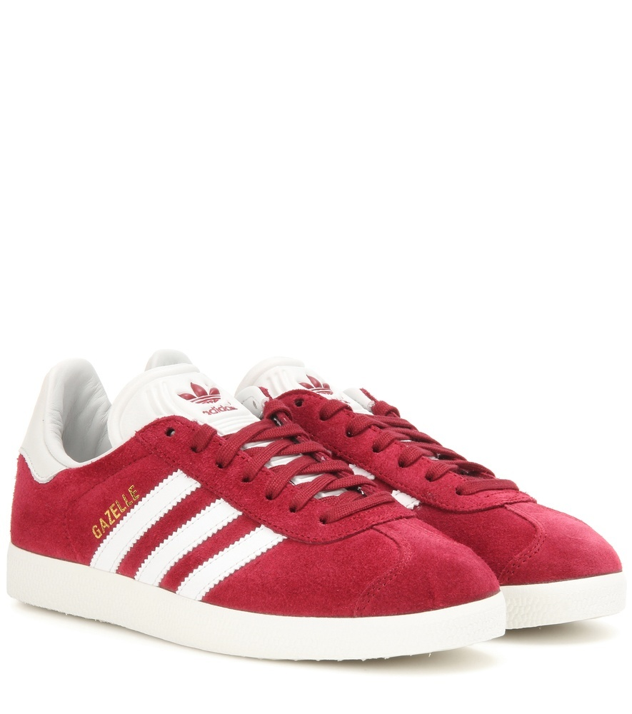 Gazelle Og Suede Sneakers - secondary colour: white; occasions: casual; material: suede; heel height: flat; toe: round toe; style: trainers; finish: plain; pattern: colourblock; predominant colour: raspberry; season: a/w 2016; wardrobe: highlight