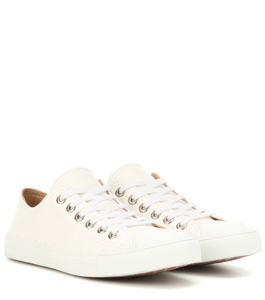 Lauren Leather Sneakers - predominant colour: white; occasions: casual; material: leather; heel height: flat; toe: round toe; style: trainers; finish: plain; pattern: plain; wardrobe: basic; season: a/w 2016