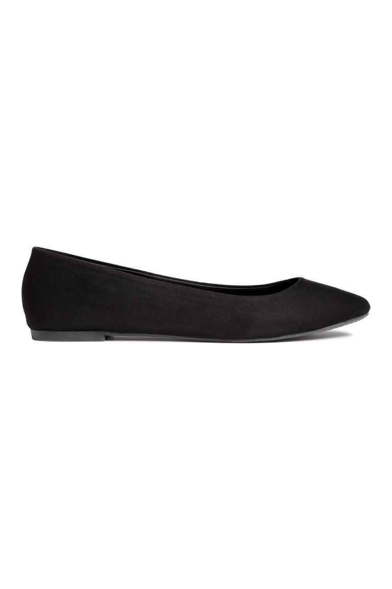 Ballet Pumps - predominant colour: black; occasions: casual, creative work; material: faux leather; heel height: flat; toe: round toe; style: ballerinas / pumps; finish: plain; pattern: plain; wardrobe: basic; season: a/w 2016
