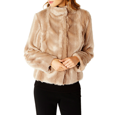 Chelsea Faux Fur Coat, Caramel - pattern: plain; length: standard; collar: high neck; predominant colour: camel; occasions: evening; fit: straight cut (boxy); fibres: acrylic - 100%; style: fur coat; sleeve length: long sleeve; sleeve style: standard; texture group: fur; collar break: high; pattern type: fabric; season: a/w 2016; wardrobe: event