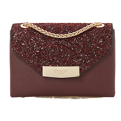 Serenity Micro Clutch Bag - predominant colour: burgundy; secondary colour: gold; occasions: evening, occasion; type of pattern: standard; style: clutch; length: hand carry; size: standard; material: faux leather; embellishment: glitter; pattern: plain; finish: plain; season: a/w 2016; wardrobe: event