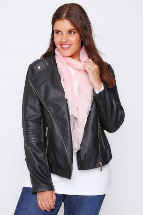 Pale Pink Scarf With Silver Flower Sequins - predominant colour: blush; occasions: casual; type of pattern: standard; style: regular; size: standard; material: fabric; pattern: plain; season: a/w 2016