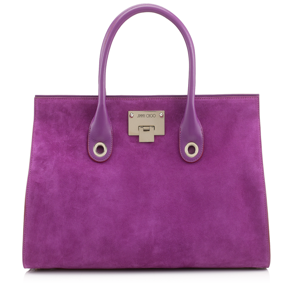 Riley Madeline Suede Tote Bag - predominant colour: purple; occasions: casual, creative work; type of pattern: standard; style: tote; length: handle; size: standard; material: suede; pattern: plain; finish: plain; season: a/w 2016; wardrobe: highlight