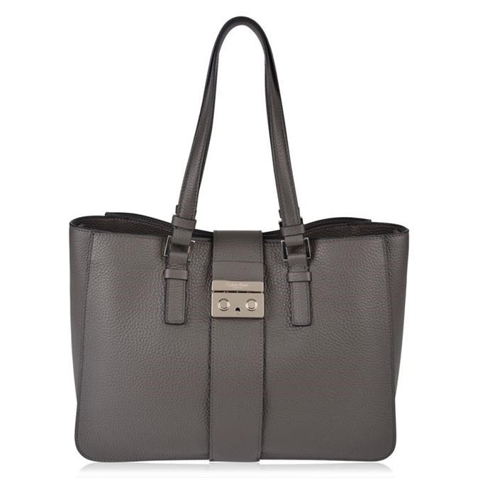 Waverly Bag - predominant colour: mid grey; occasions: casual; type of pattern: standard; style: tote; length: shoulder (tucks under arm); size: standard; material: leather; pattern: plain; finish: plain; wardrobe: investment; season: a/w 2016