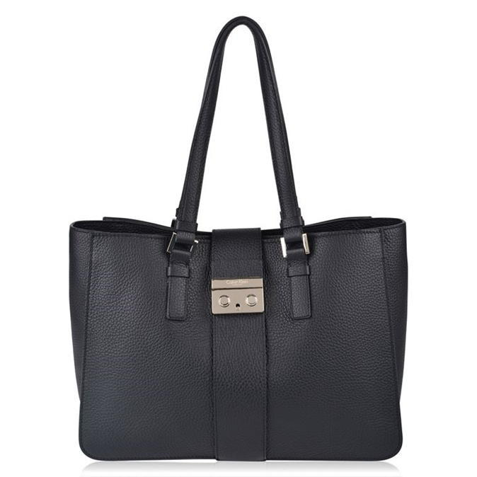 Waverly Bag - predominant colour: black; occasions: casual; type of pattern: standard; style: tote; length: shoulder (tucks under arm); size: oversized; material: leather; pattern: plain; finish: plain; season: a/w 2016