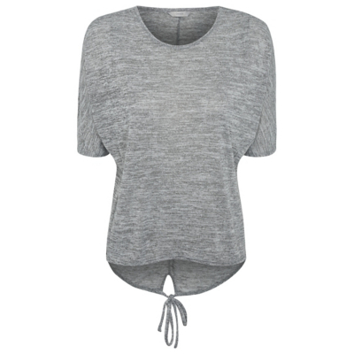 Oversized Marl Top Light Grey - predominant colour: light grey; occasions: casual; length: standard; style: top; fibres: polyester/polyamide - stretch; fit: loose; neckline: crew; sleeve length: short sleeve; sleeve style: standard; pattern type: fabric; texture group: jersey - stretchy/drapey; pattern: marl; season: a/w 2016