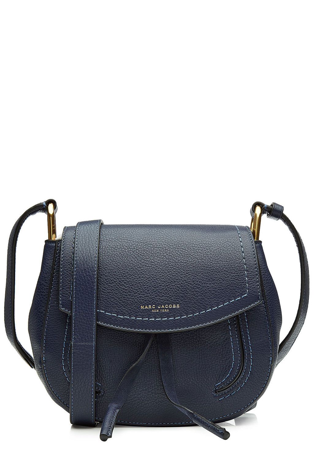Leather Shoulder Bag Blue - predominant colour: black; occasions: casual; type of pattern: standard; style: messenger; length: across body/long; size: small; material: leather; pattern: plain; finish: plain; wardrobe: basic; season: a/w 2016