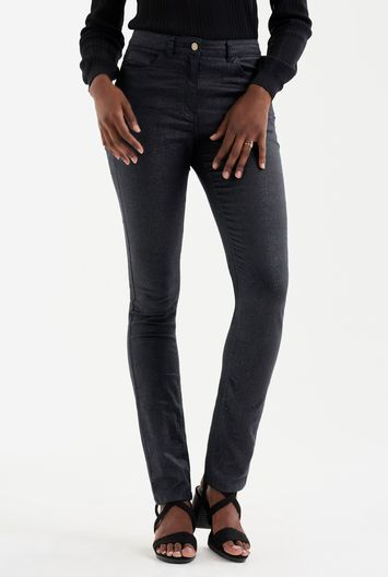 Tall Sparkle Jean At - style: skinny leg; length: standard; pattern: plain; waist: high rise; pocket detail: traditional 5 pocket; predominant colour: black; occasions: casual; fibres: cotton - stretch; texture group: denim; pattern type: fabric; wardrobe: basic; season: a/w 2016