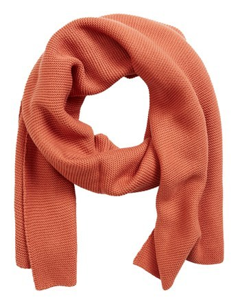 Knit Scarf - predominant colour: bright orange; occasions: casual; type of pattern: standard; style: regular; size: standard; material: knits; pattern: plain; season: a/w 2016; wardrobe: highlight