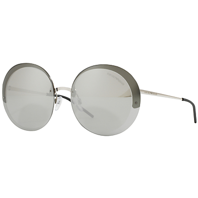 Ea2044 Round Sunglasses - predominant colour: silver; occasions: casual, holiday; style: round; size: standard; material: chain/metal; pattern: plain; finish: plain; wardrobe: basic; season: a/w 2016