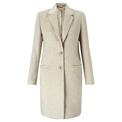Single Breasted City Wool Coat, Oyster - pattern: plain; style: single breasted; collar: standard lapel/rever collar; length: mid thigh; predominant colour: stone; occasions: casual, creative work; fit: tailored/fitted; fibres: wool - mix; sleeve length: long sleeve; sleeve style: standard; collar break: medium; pattern type: fabric; texture group: woven bulky/heavy; wardrobe: basic; season: a/w 2016