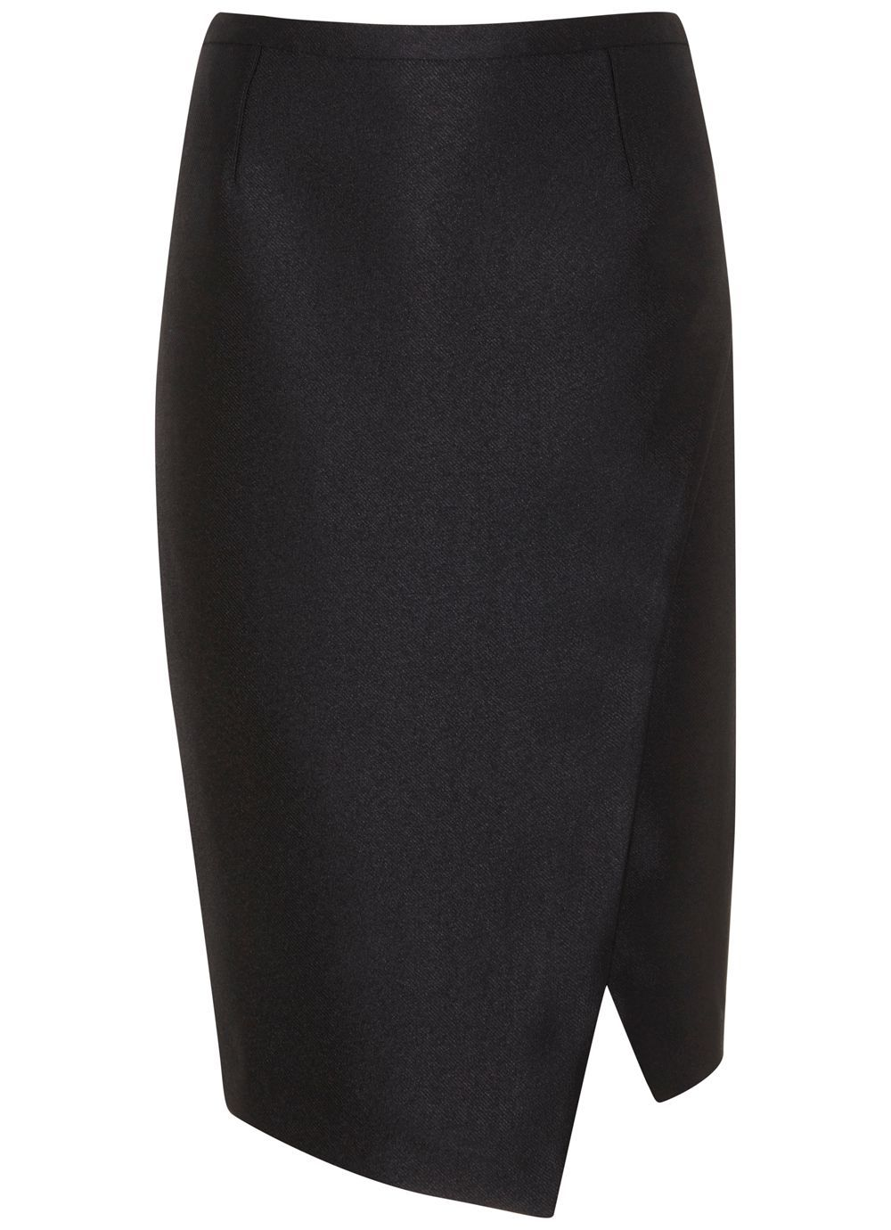 Black Metallic Pencil Skirt, Black - pattern: plain; style: pencil; fit: body skimming; waist: mid/regular rise; predominant colour: black; occasions: evening; length: just above the knee; fibres: leather - 100%; pattern type: fabric; texture group: suede; season: a/w 2016
