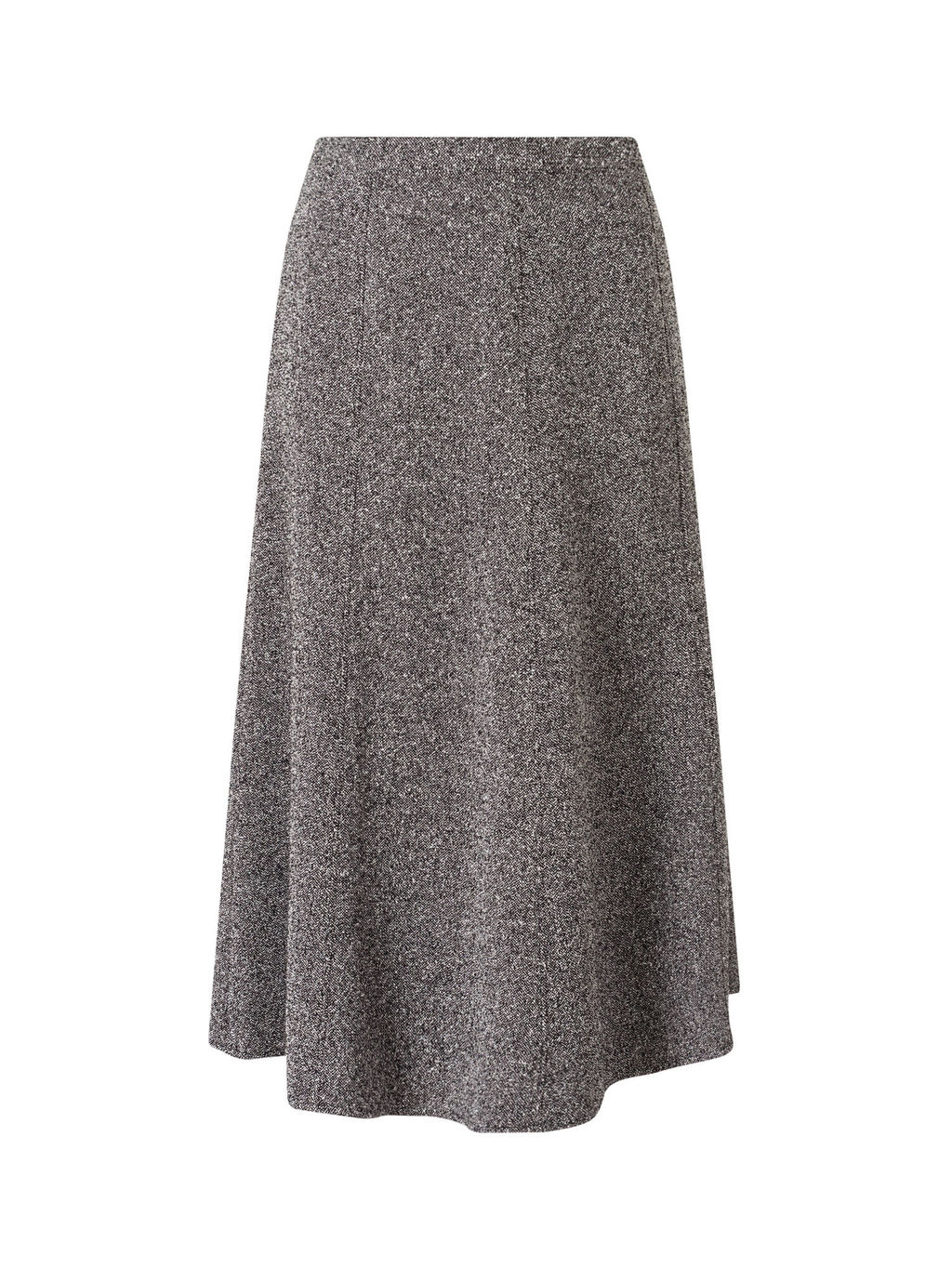 Tweed A Line Skirt - length: calf length; pattern: plain; fit: loose/voluminous; waist: mid/regular rise; predominant colour: mid grey; occasions: casual; style: a-line; fibres: polyester/polyamide - mix; pattern type: fabric; texture group: tweed - light/midweight; wardrobe: basic; season: a/w 2016