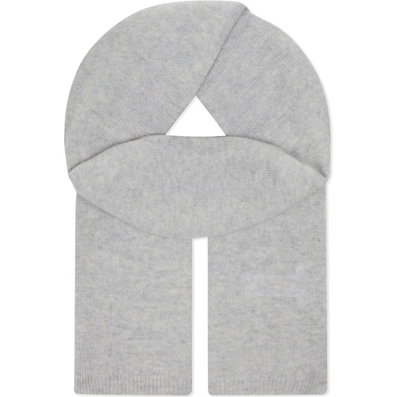 Essential Cashmere Scarf, Women's, Pale Grey Marl - predominant colour: light grey; occasions: casual; type of pattern: standard; style: regular; size: standard; pattern: plain; material: cashmere; wardrobe: investment; season: a/w 2016