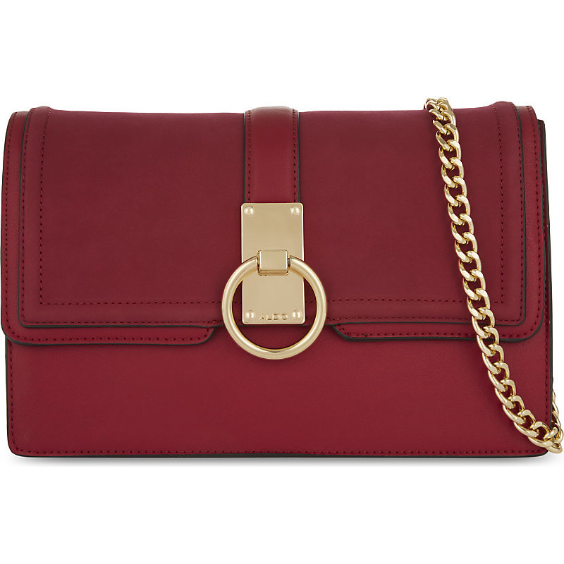Picou Cross Body Bag - predominant colour: true red; occasions: casual, creative work; type of pattern: standard; style: messenger; length: across body/long; size: small; material: faux leather; pattern: plain; finish: plain; embellishment: chain/metal; season: a/w 2016; wardrobe: highlight