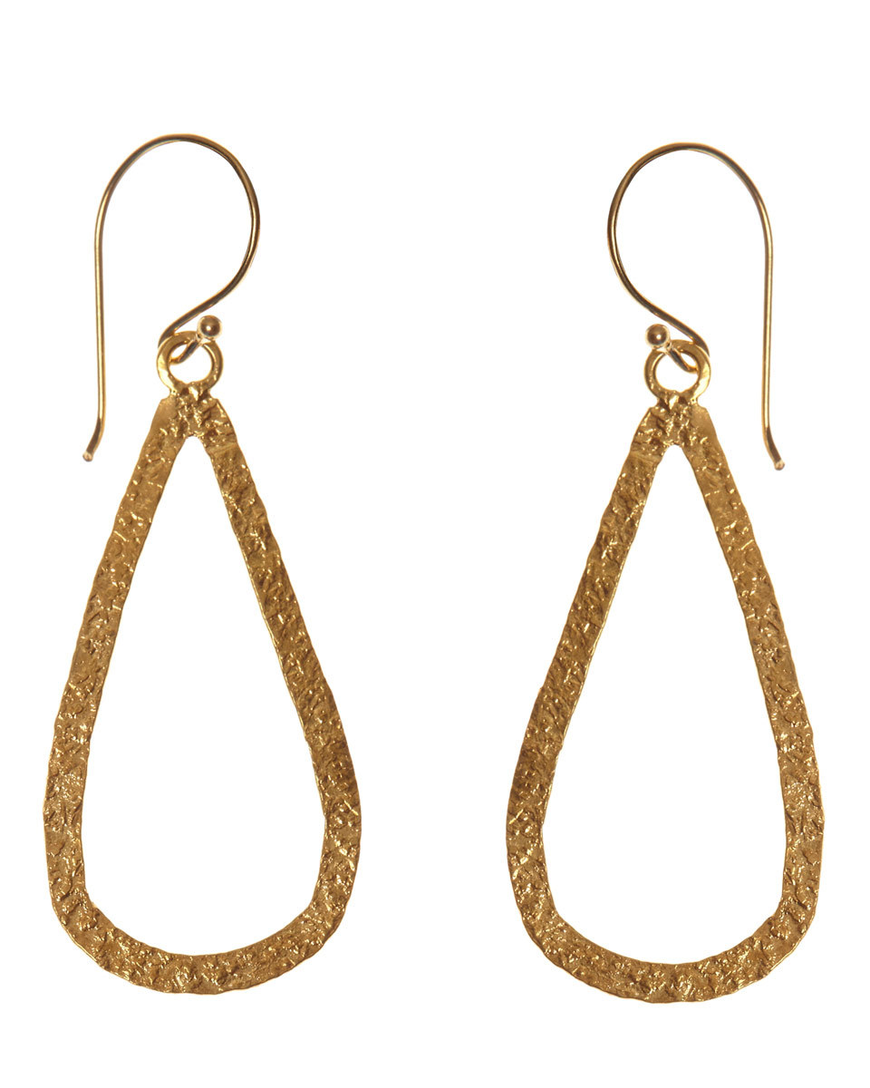 Mirabelle Teardrop Earrings - predominant colour: gold; occasions: evening; style: drop; length: long; size: large/oversized; material: chain/metal; fastening: pierced; finish: metallic; embellishment: glitter; season: a/w 2016
