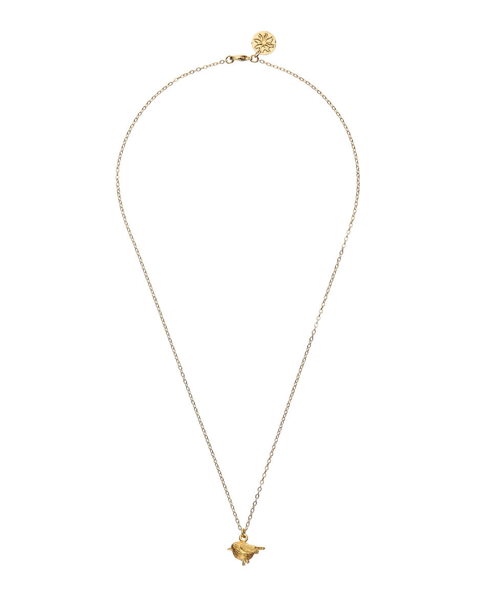 Mirabelle Robin Necklace - predominant colour: gold; occasions: evening; style: pendant; length: mid; size: small/fine; material: chain/metal; finish: metallic; embellishment: chain/metal; season: a/w 2016; wardrobe: event