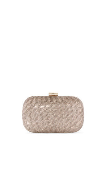 Sparkle Clutch - predominant colour: champagne; occasions: evening, occasion; type of pattern: standard; style: clutch; length: hand carry; size: small; material: faux leather; pattern: plain; finish: metallic; season: a/w 2016