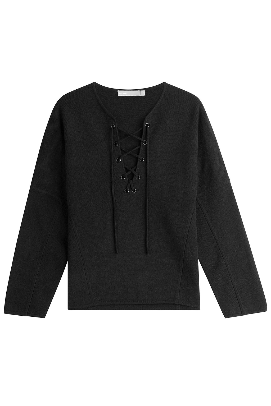 Wool And Cashmere Pullover - neckline: v-neck; pattern: plain; style: standard; predominant colour: black; occasions: casual, creative work; length: standard; fibres: wool - mix; fit: loose; sleeve length: long sleeve; sleeve style: standard; texture group: knits/crochet; pattern type: knitted - fine stitch; wardrobe: basic; season: a/w 2016