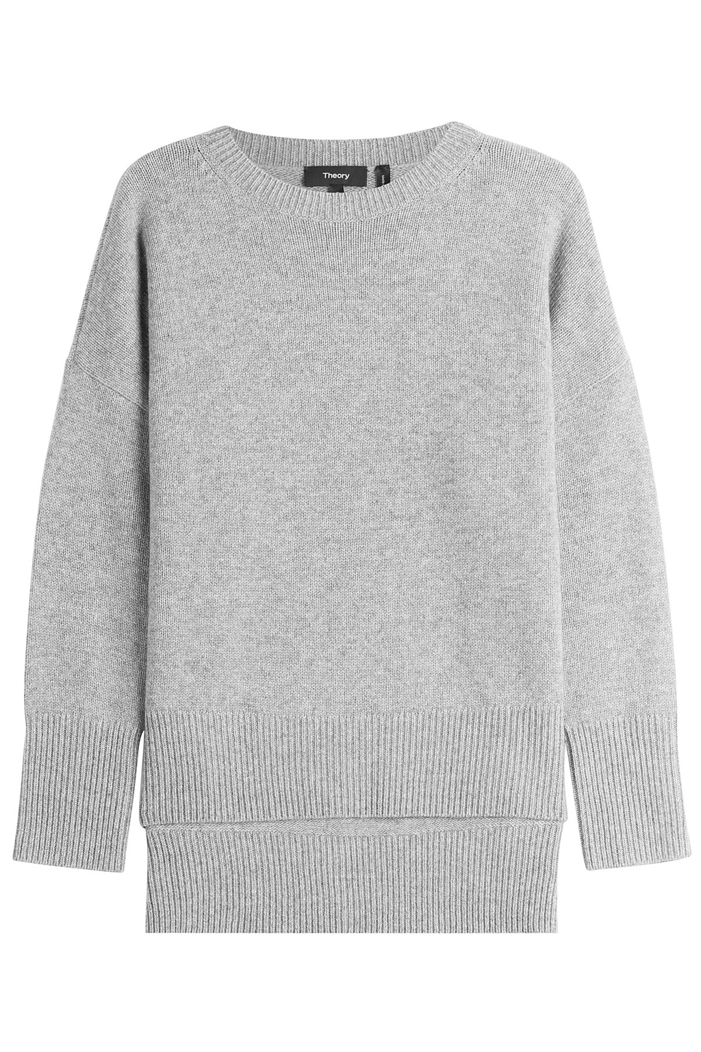 Cashmere Pullover Grey - pattern: plain; length: below the bottom; style: standard; predominant colour: light grey; occasions: casual, creative work; fit: loose; neckline: crew; fibres: cashmere - 100%; sleeve length: long sleeve; sleeve style: standard; texture group: knits/crochet; pattern type: knitted - other; wardrobe: investment; season: a/w 2016