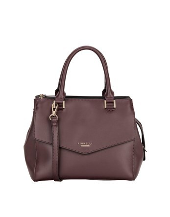 Grab Bag - predominant colour: chocolate brown; occasions: work, creative work; type of pattern: standard; style: tote; length: handle; size: standard; material: faux leather; pattern: plain; finish: plain; wardrobe: investment; season: a/w 2016