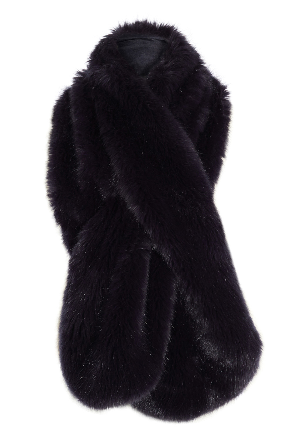 Luella Longline Fur Scarf - predominant colour: black; occasions: casual; type of pattern: standard; size: standard; material: fur; pattern: plain; style: stole; wardrobe: basic; season: a/w 2016