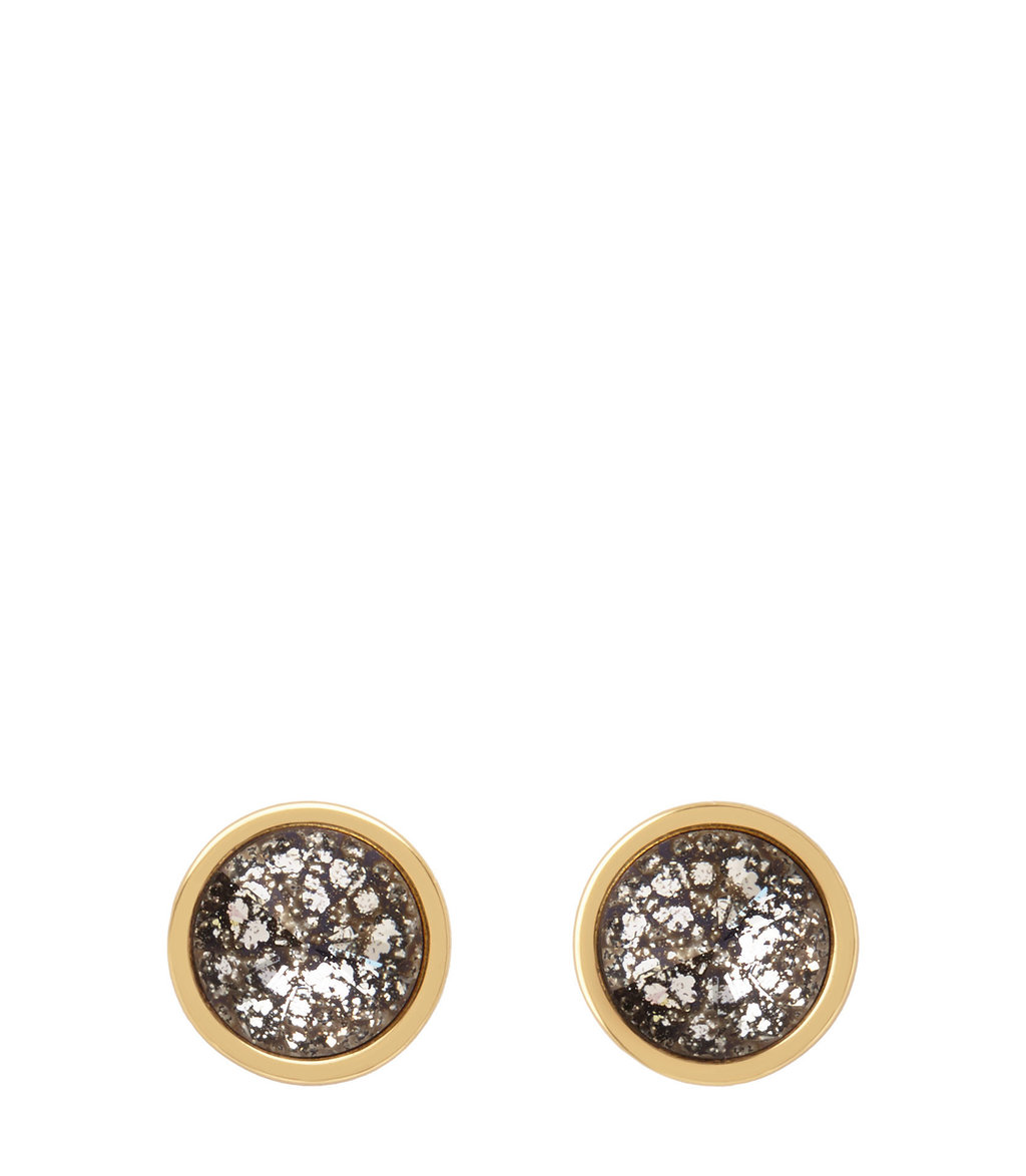 Edie Womens Stud Earrings With Crystals From Swarovski In Yellow - secondary colour: silver; predominant colour: gold; occasions: evening; style: stud; length: short; size: standard; material: chain/metal; fastening: pierced; finish: metallic; embellishment: crystals/glass; multicoloured: multicoloured; season: a/w 2016