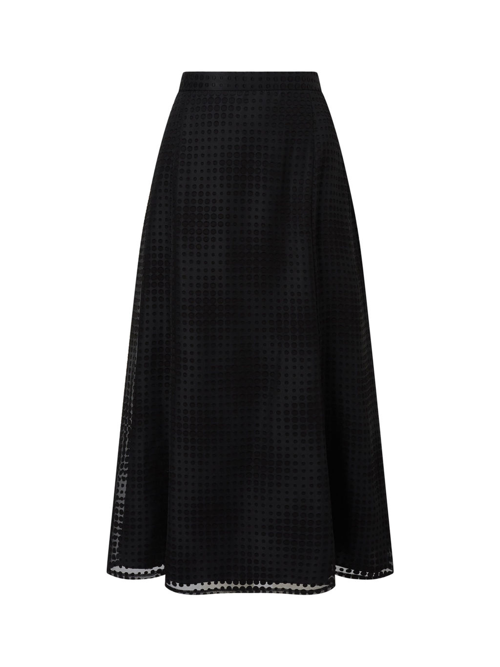 Dobby Skirt - length: calf length; pattern: plain; style: full/prom skirt; fit: loose/voluminous; waist: mid/regular rise; predominant colour: black; occasions: evening; fibres: polyester/polyamide - mix; pattern type: fabric; texture group: jersey - stretchy/drapey; season: a/w 2016; wardrobe: event