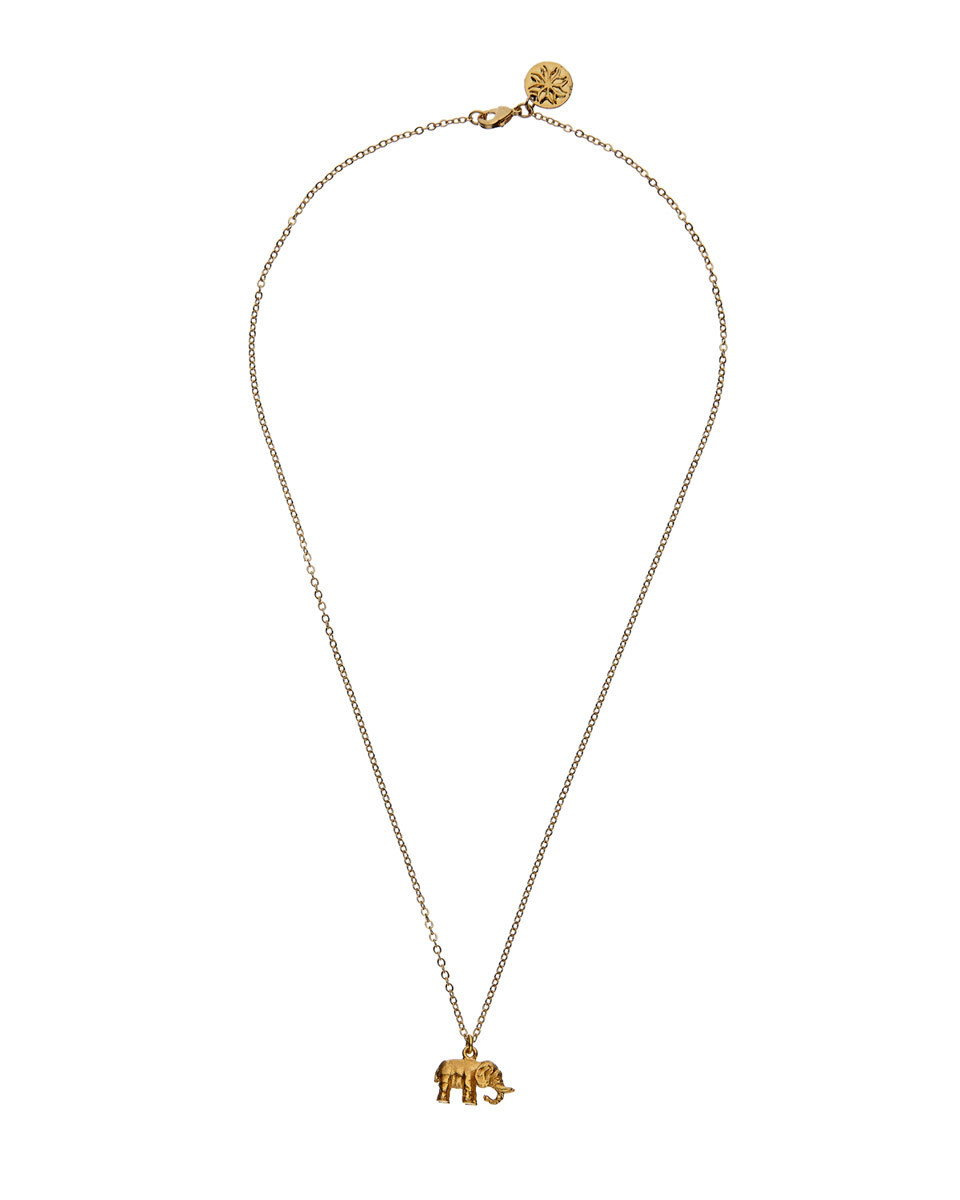 Mirabelle Elephant Necklace - predominant colour: gold; occasions: evening, occasion; style: pendant; length: mid; size: standard; material: chain/metal; finish: metallic; season: a/w 2016; wardrobe: event