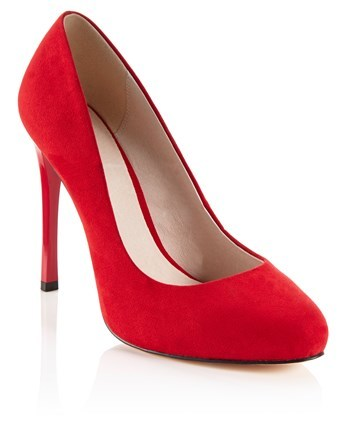 Wide Fit Platform Court Shoe - predominant colour: true red; occasions: evening; material: faux leather; heel: stiletto; toe: round toe; style: courts; finish: plain; pattern: plain; heel height: very high; season: a/w 2016; wardrobe: event