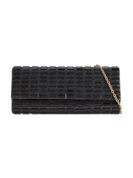 Full Jewel Embellished Party Clutch - predominant colour: black; occasions: evening, occasion; type of pattern: standard; style: clutch; length: hand carry; size: standard; material: faux leather; pattern: plain; finish: plain; embellishment: jewels/stone; season: a/w 2016; wardrobe: event