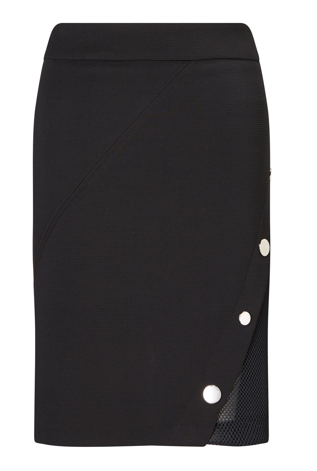 Studs Tailored Skirt, Black - pattern: plain; style: straight; fit: tailored/fitted; waist: mid/regular rise; predominant colour: black; occasions: evening; length: just above the knee; fibres: polyester/polyamide - stretch; pattern type: fabric; texture group: woven light midweight; embellishment: studs; season: a/w 2016; wardrobe: event