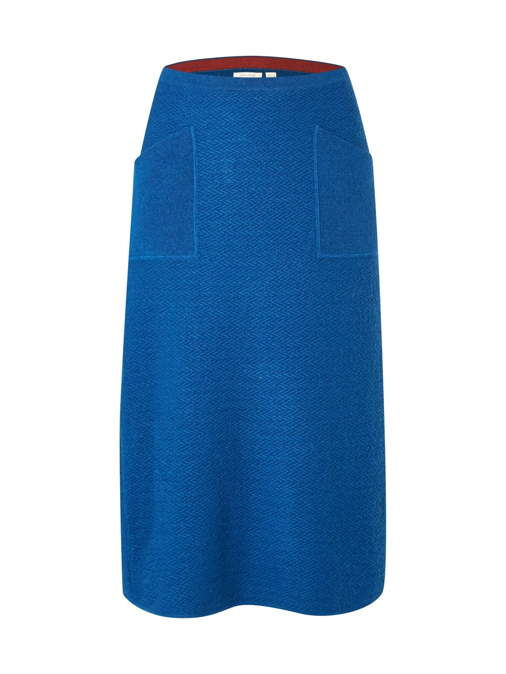 North Star Knitted Skirt, Blue - length: below the knee; pattern: plain; style: straight; waist: mid/regular rise; predominant colour: royal blue; occasions: casual, creative work; fibres: wool - mix; texture group: knits/crochet; fit: straight cut; pattern type: knitted - fine stitch; season: a/w 2016