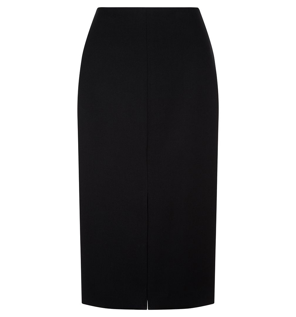 Clemence Midi Skirt, Black - pattern: plain; style: pencil; fit: tailored/fitted; waist: mid/regular rise; predominant colour: black; occasions: evening; length: on the knee; fibres: polyester/polyamide - stretch; pattern type: fabric; texture group: woven light midweight; season: a/w 2016; wardrobe: event