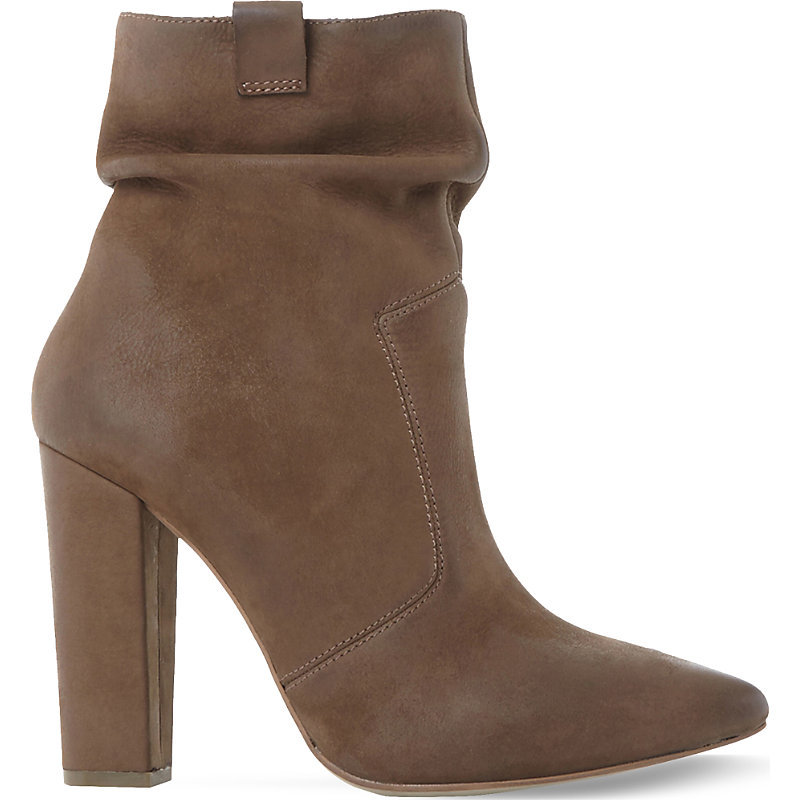 Ruling Sm Nubuck Leather Ankle Boot, Women's, Eur 40 / 7 Uk Women, Stone Nubuck - predominant colour: chocolate brown; occasions: casual, creative work; material: leather; heel: block; toe: pointed toe; boot length: ankle boot; style: standard; finish: plain; pattern: plain; heel height: very high; season: a/w 2016