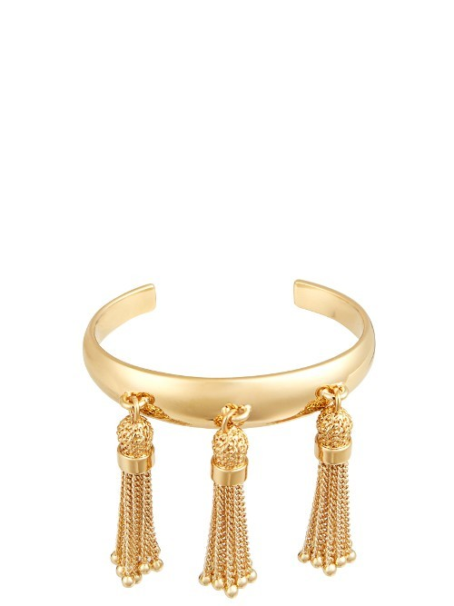 Lynn Cuff - predominant colour: gold; occasions: evening, occasion; style: cuff; size: large/oversized; material: chain/metal; finish: metallic; season: a/w 2016; wardrobe: event