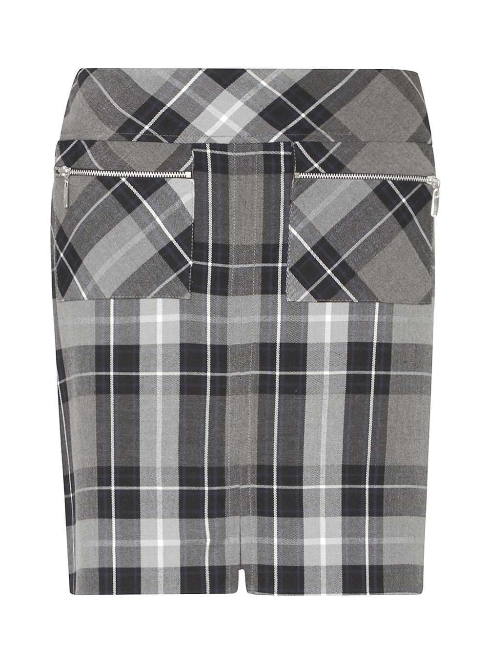 Womens **Petite Navy Check A Line Skirt Navy - pattern: checked/gingham; fit: tailored/fitted; waist: mid/regular rise; predominant colour: navy; occasions: casual, creative work; length: just above the knee; style: a-line; fibres: polyester/polyamide - mix; pattern type: fabric; texture group: woven light midweight; season: a/w 2016