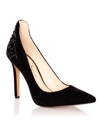 Courts - predominant colour: black; occasions: evening; material: suede; heel height: high; embellishment: jewels/stone; heel: stiletto; toe: pointed toe; style: courts; finish: plain; pattern: plain; season: a/w 2016; wardrobe: event