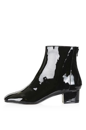 Kobra Boots - predominant colour: black; occasions: casual, creative work; material: faux leather; heel height: mid; heel: block; toe: pointed toe; boot length: ankle boot; style: standard; finish: metallic; pattern: plain; wardrobe: basic; season: a/w 2016
