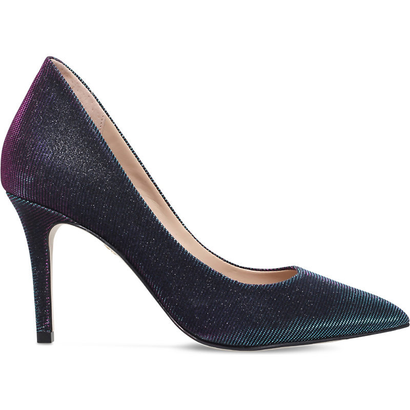 Bella Metallic Leather Courts, Women's, Eur 36 / 3 Uk Women, Blue - predominant colour: navy; occasions: evening, occasion; material: leather; heel height: high; heel: stiletto; toe: pointed toe; style: courts; finish: plain; pattern: plain; season: a/w 2016; wardrobe: event