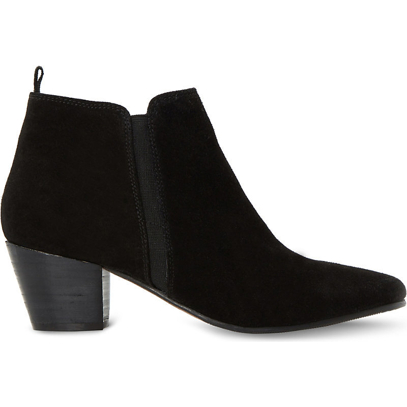 Black Perdy Ankle Boot, Women's, Eur 41 / 8 Uk Women, Black Suede - predominant colour: black; occasions: casual, creative work; material: suede; heel height: mid; heel: cone; toe: pointed toe; boot length: ankle boot; style: cowboy; finish: plain; pattern: plain; wardrobe: basic; season: a/w 2016