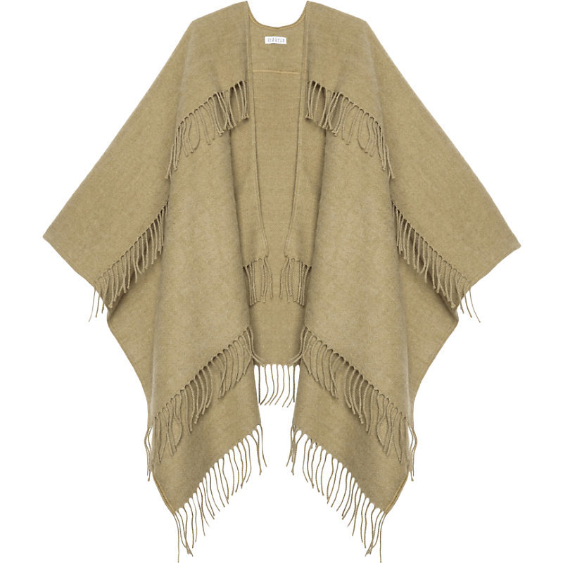 Atole Scarf, Women's, Camel - predominant colour: stone; occasions: casual; type of pattern: standard; style: wrap; size: large; material: knits; embellishment: fringing; pattern: plain; season: a/w 2016