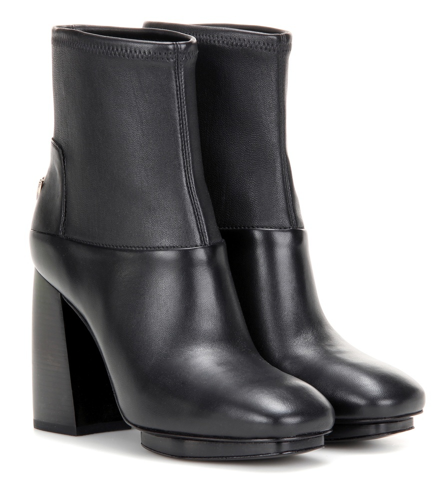 Sidney Leather Ankle Boots - predominant colour: black; occasions: casual; material: leather; heel height: high; heel: block; toe: round toe; boot length: ankle boot; style: standard; finish: plain; pattern: plain; season: a/w 2016; wardrobe: highlight
