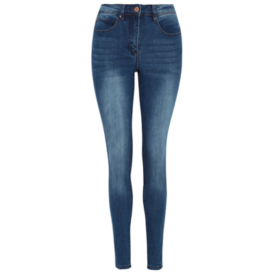 Wondershape Skinny Jeans Dark Denim - style: skinny leg; length: standard; pattern: plain; waist: high rise; predominant colour: navy; occasions: casual; fibres: cotton - stretch; jeans detail: whiskering, washed/faded; texture group: denim; pattern type: fabric; wardrobe: basic; season: a/w 2016
