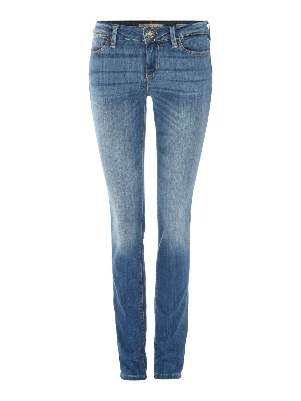 Skinny Mid Rise Jean, Denim Light Wash - style: skinny leg; length: standard; pattern: plain; pocket detail: traditional 5 pocket; waist: mid/regular rise; predominant colour: denim; occasions: casual, creative work; fibres: cotton - stretch; texture group: denim; pattern type: fabric; wardrobe: basic; season: a/w 2016